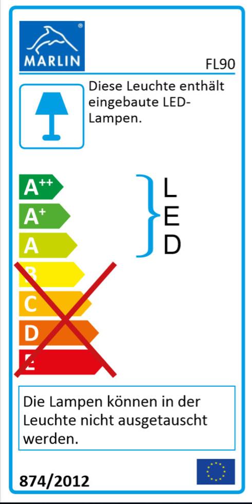 Energieeffizienz: Spiegelschrank 3160 in weiß Glanz