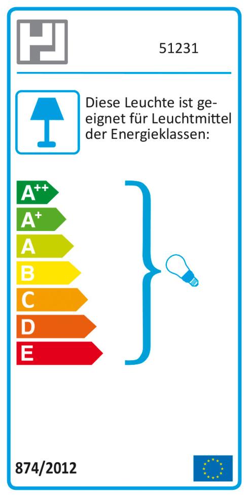Energieeffizienz: Tischleuchte Foro in silberfarbig, 28 cm