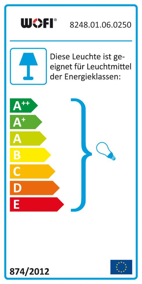 Energieeffizienz: Tischleuchte Glaskugel in weiß, Ø 25 cm