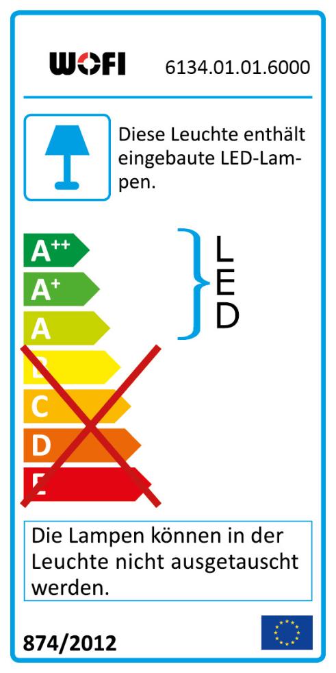 Energieeffizienz: LED-Pendelleuchte Indigo in chromfarbig