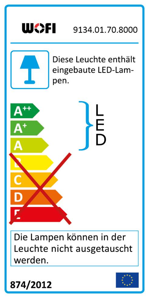 Energieeffizienz: LED-Deckenleuchte Indigo in Blattsilber-Optik