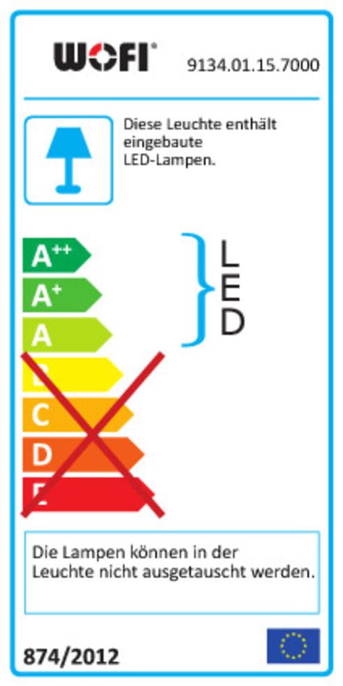 LED-Deckenleuchte Indigo in goldfarbig