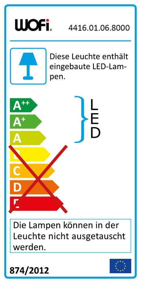 Energieeffizienz: LED-Wandleuchte Quebec in weiß