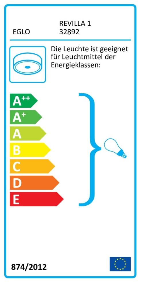 Energieeffizienz: Deckenleuchte Revilla 1 in anthazit/braun, 38 cm