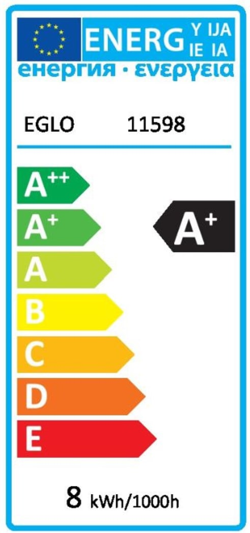 Energieeffizienz: LED-Leuchtmittel Milky G80, 8W / E27