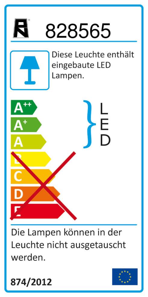 Energieeffizienz: LED-Deckenleuchte Polina in nickel matt, 4-flammig