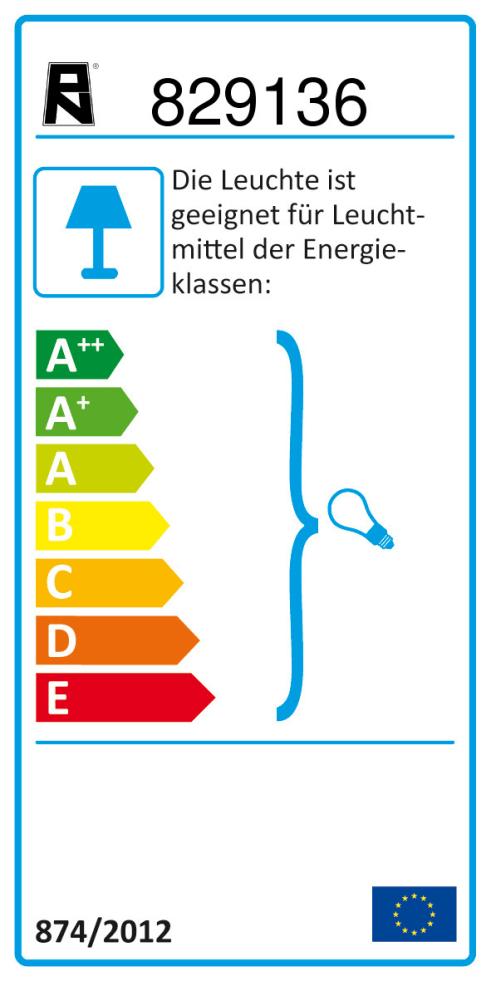 Energieeffizienz: Deckenleuchte Greta in rostfarbig, 6-flammig