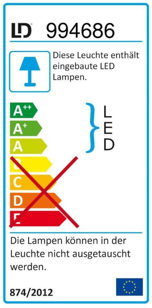 Energieeffizienz: LED-Deckenleuchte Tim in chromfarbig, 8-flammig