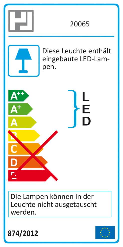 Energieeffizienz: LED-Deckenleuchte Sund in nickel matt, 65 cm