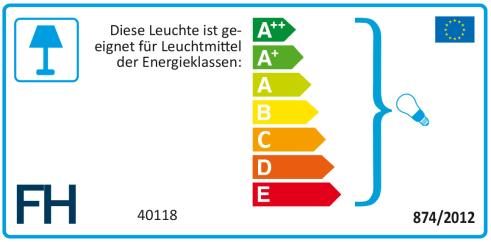Energieeffizienz: Standleuchte Layer in grau