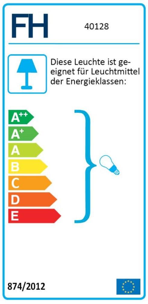 Energieeffizienz: Standleuchte Regi in schwarz, 97 cm