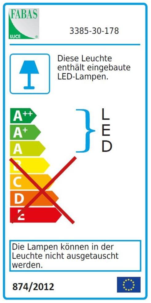 Energieeffizienz: LED-Tischleuchte Viktor in nickel satiniert