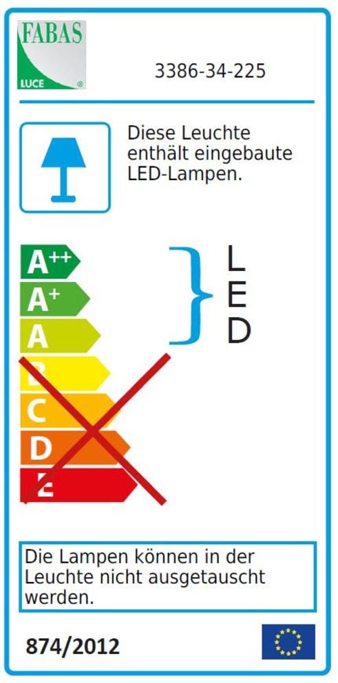 Energieeffizienz: LED-Tischleuchte Neutra in goldfarbig matt