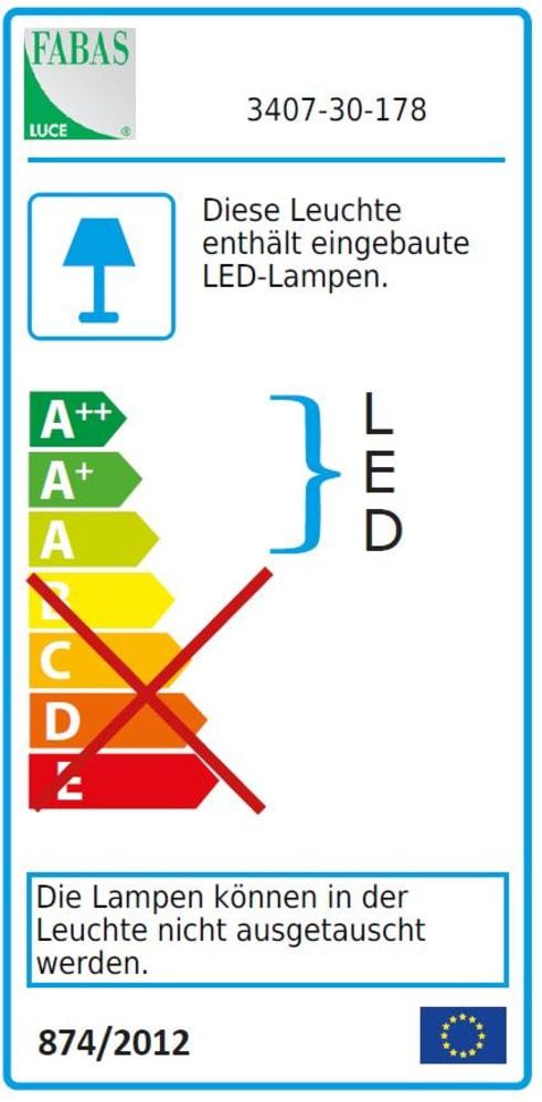 Energieeffizienz: LED-Tischleuchte Brenta in nickel matt
