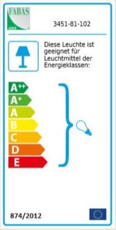Energieeffizienz: Wandleuchte Modo in weiß