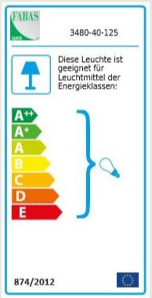 Energieeffizienz: Pendelleuchte Sintesi in amber, 1-flammig
