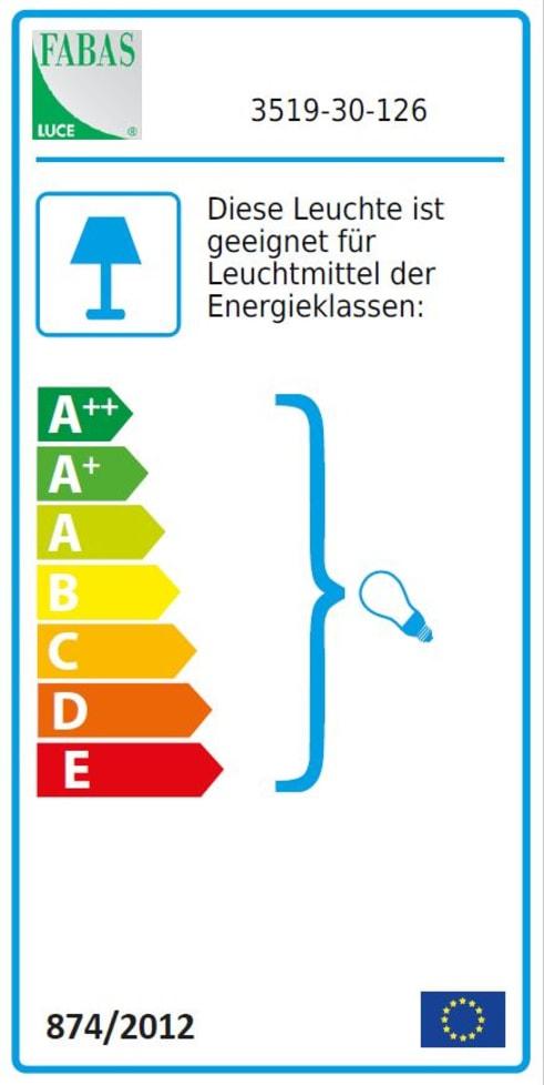 Energieeffizienz: Tischleuchte Infinity in grau