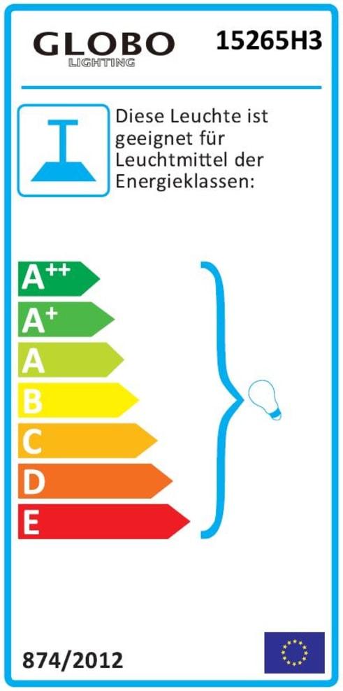Energieeffizienz: Pendelleuchte Tarok in silberfarbig