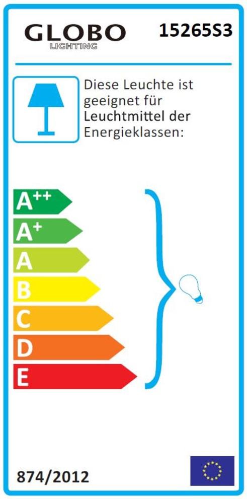 Energieeffizienz: Standleuchte Tarok in silberfarbig