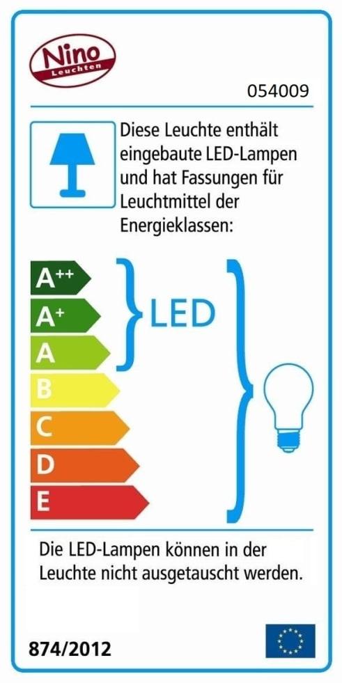 Energieeffizienz: LED-Tischleuchte Forest in Eiche hell, 51 cm