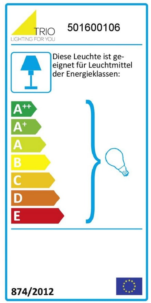 Energieeffizienz: Tischleuchte Midas in rauchschwarz