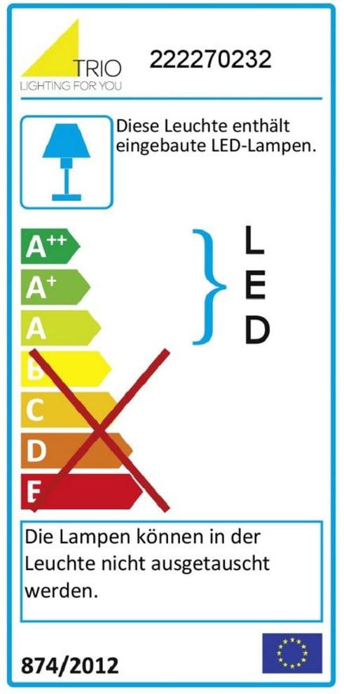 Energieeffizienz: LED-Wandleuchte Luigi in schwarz