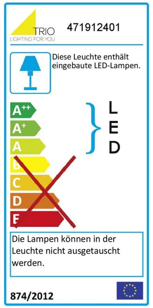 Energieeffizienz: LED-Stehleuchte Lugano in weiß