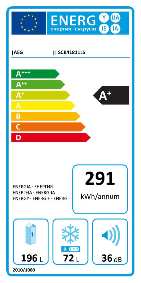 Energieeffizienz: Kühl-Gefrierkombination SCB41811LS, Höhe ca. 178 cm