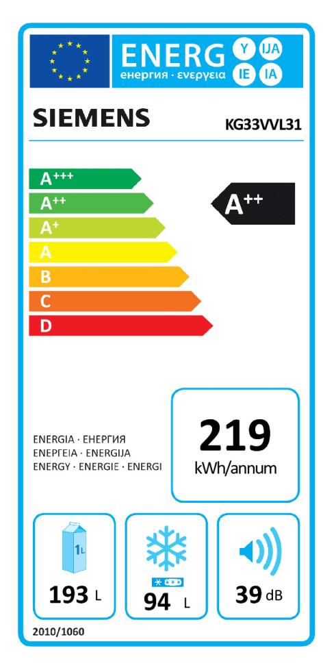 Energieeffizienz: Kühl-Gefrierkombination KG33VVL31