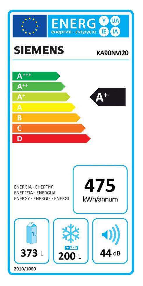 Energieeffizienz: Kühl-/Gefrierkombination Side by Side KA90NVI20
