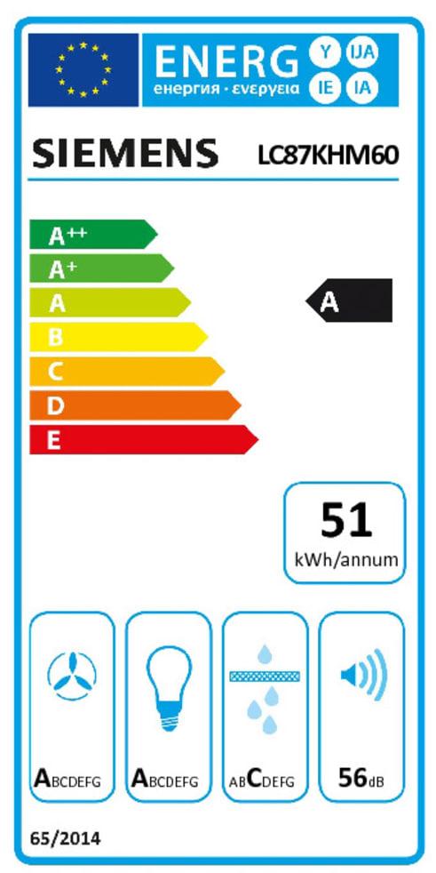 Energieeffizienz: Dunstabzugshaube LC87KHM60 in schwarz