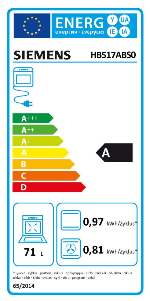 Energieeffizienz: Backofen HB517ABSO