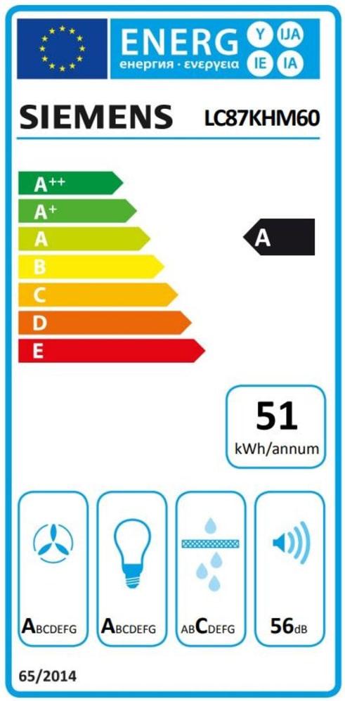 Energieeffizienz: Dunstabzugshaube LC87KHM60 in weiß