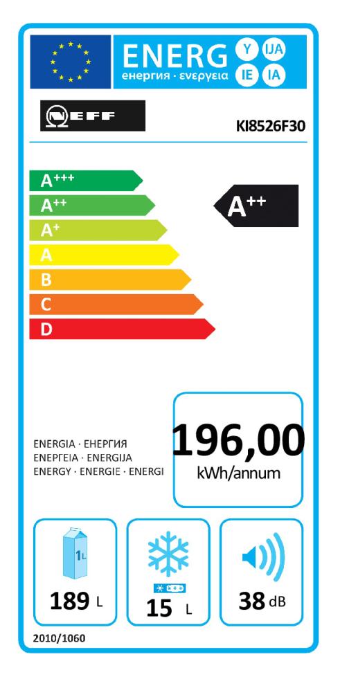 Energieeffizienz: Einbau-Kühl-Gefrierkombination KN 548A2 MC
