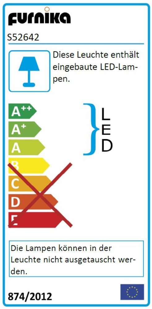 Energieeffizienz: LED-Leseleuchte in schwarz, 2-er Set