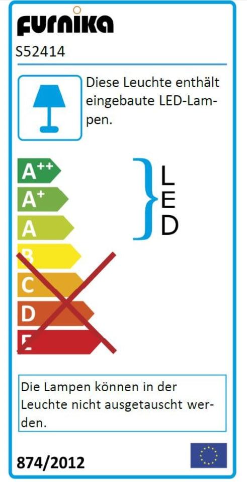 Energieeffizienz: Bettanlage Rondino in Sandeiche-Optik/Hochglanz weiß