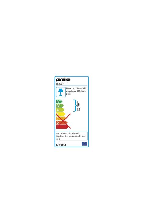 Energieeffizienz: Sideboard Rondino in Sandeiche-Optik/Hochglanz weiß