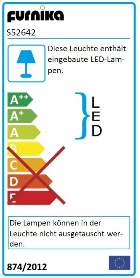 Energieeffizienz: LED-Leseleuchten in silberfarbig, 2er-Set