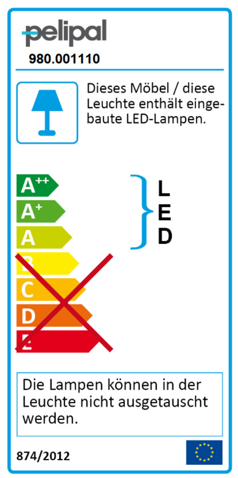 Energieeffizienz: LED-Beleuchtung Jasper in chrom