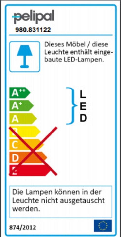Energieeffizienz: Bad-Einrichtung Balu in weiß Hochglanz/Rivera Eiche-Optik