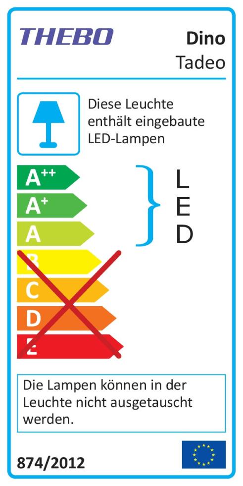 Energieeffizienz: LED-Leuchten-Set  Dino in warmweiß