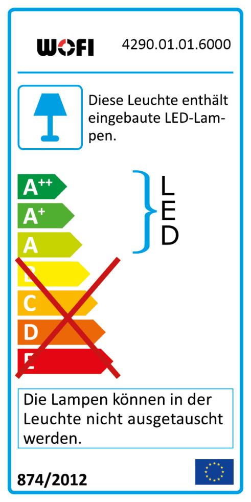 LED-Wandleuchte Lea in chromfarbig