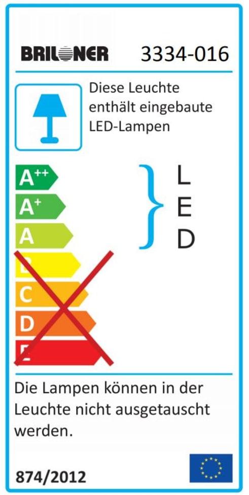 Energieeffizienz: LED-Deckenleuchte CCT in weiß