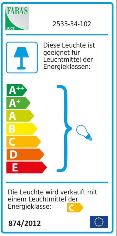 Energieeffizienz: Tischleuchte Ade in weiß, 33 cm