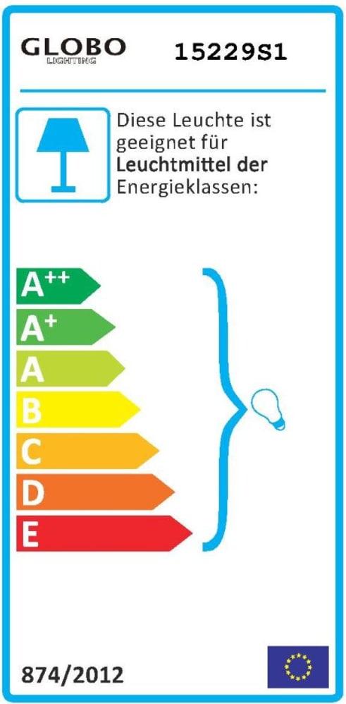 Energieeffizienz: Stehleuchte Clarke in schwarz/goldfarbig
