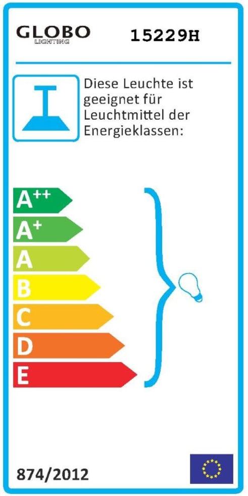 Energieeffizienz: Pendelleuchte Clarke in schwarz/goldfarbig