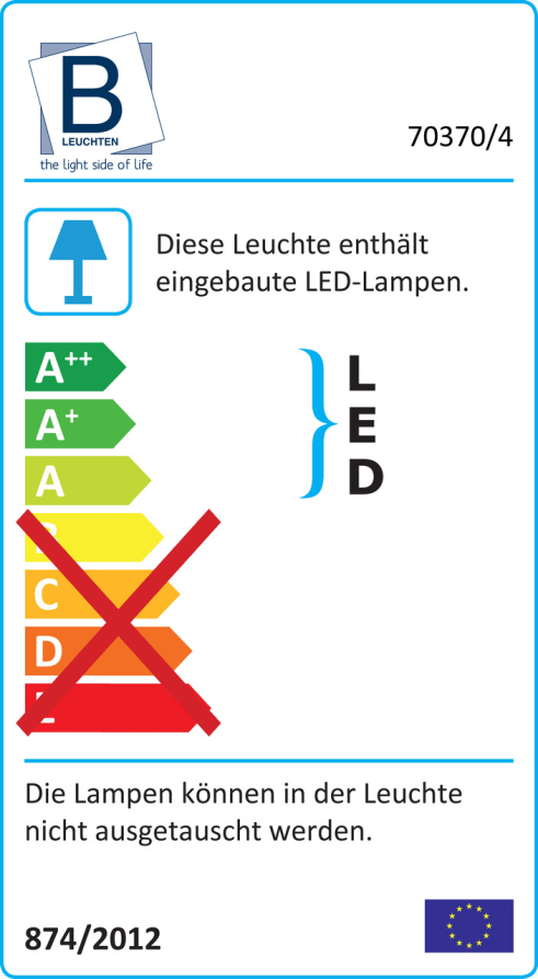 Energieeffizienz: LED-Deckenleuchte Diego in nickel matt