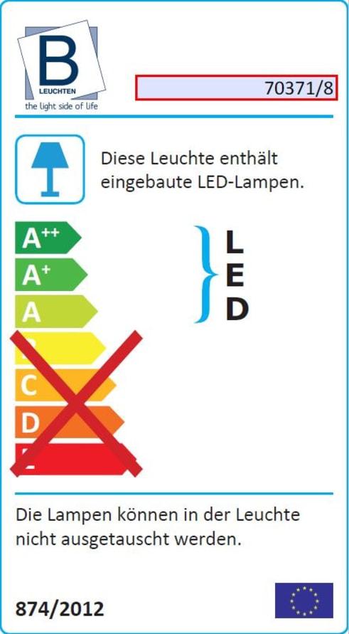Energieeffizienz: LED-Deckenleuchte Flower in nickel matt