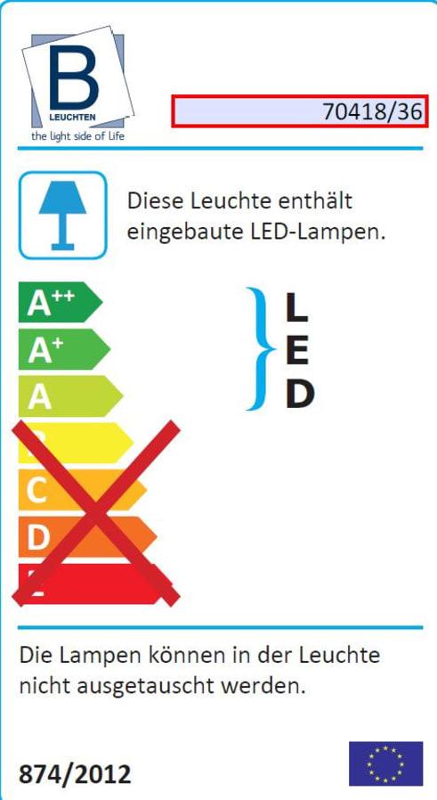 Energieeffizienz: LED-Deckenleuchte Fleut in chromfarbig