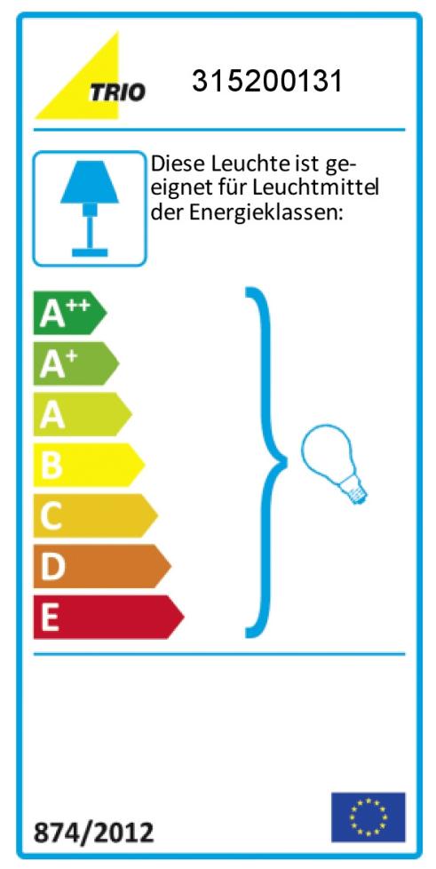 Energieeffizienz: Pendelleuchte Trio in weiß